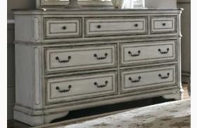 Magnolia Manor Antique White 7 Drawer Dresser