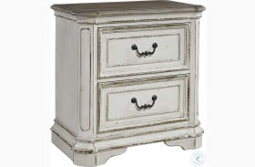 Magnolia Manor Antique White 2 Drawer Nightstand