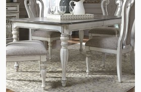 Magnolia Manor Antique White 108 Extendable Rectangular Dining Table