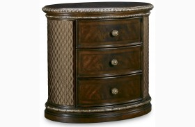Gables 3 Drawer Oval Nightstand