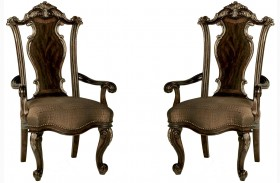 Gables Wood Back Arm Chair Set of 2