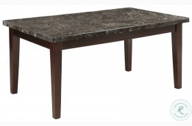 Decatur Espresso Black Marble Top Dining Table
