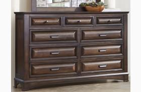 Knollwood Dark Cognac 9 Drawer Dresser