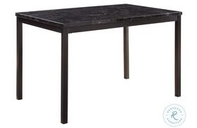 Tempe Black Marble Top Dining Table