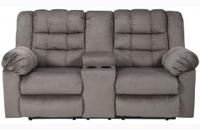 Mort Charcoal Double Reclining Console Loveseat