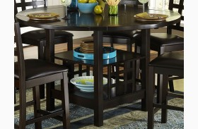 Glendine Lazy Susan Counter Height Table