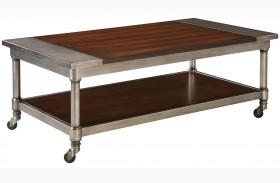 Hudson Warm Cherry Stain Cocktail Table
