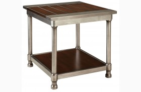 Hudson Warm Cherry Stain End Table