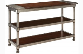Hudson Warm Cherry Stain Console Table