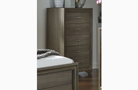 Hartly Gray Wash 5 Drawer Chest