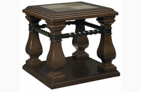 San Moreno Aged Whiskey Brown End Table