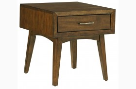 Roxbury Brown Drawer End Table