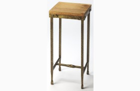 Gratton Iron & Wood Pedestal