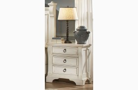 Heirloom White Nightstand