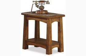 Craftsman Oak Chairside Table