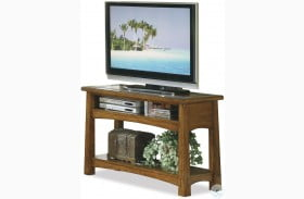 Craftsman Home Americana Oak Console Table