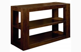 Franklin Burnished Brown Cherry Console Table