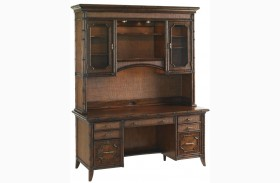 Bal Harbor Rich Sienna Isle of Palms Credenza With Deck