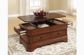 Sheridan Burnished Cherry Lift Top Cocktail Table