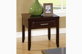 Naples Distressed Walnut End Table