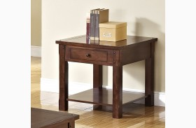 Corsica African Chestnut End Table