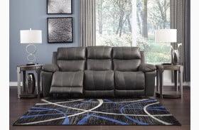 Erlangen Midnight Power Reclining Sofa with Adjustable Headrest