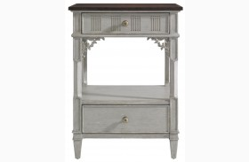 Charleston Regency Gray Linen Palmetto Telephone Table