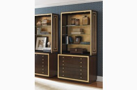 Bel Aire Walnut Beverly Palms File Chest With Hutch