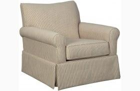 Almanza Cinnamon Swivel Glider Accent Chair