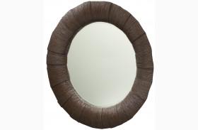 Grove Point Warm Khaki Round Mirror