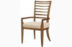 Grove Point Warm Khaki Ladder Back Arm Chair