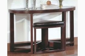 Brussel Sofa/Console Table with Chair