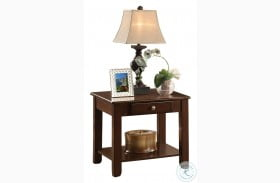 Ballwin Brown End Table