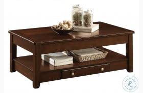 Ballwin Brown Lift Top Cocktail Table