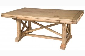 Homecoming Vintage Pine Refectory Extendable Trestle Dining Table