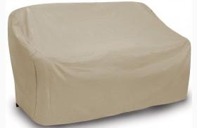 Tan Two Seat Wicker Sofa Cover