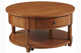 Attic Heirlooms Round Cocktail Table