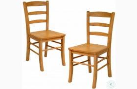 Benjamin Light Oak Ladder Back Side Chair Set of 2