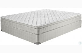 Laguna II Gray Twin Long Innerspring Firm Mattress with Foundation