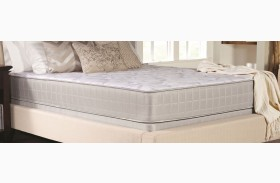 Crystal Cove II Gray Twin Long Plush Mattress With Foundation