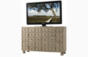 Twilight Bay Antique Linen Andrews Media Console
