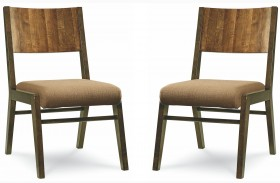 Kateri Wood Back Side Chair Set of 2