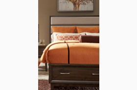Hudson Square Espresso Queen Panel Storage Bed