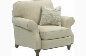 Whitfield Walnut Woven Fabric Chair & A Half
