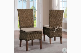 Mix and Match Hazelnut Upholstered Side Chair Set of 2