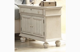 Newport Antique White 2 Door Nightstand