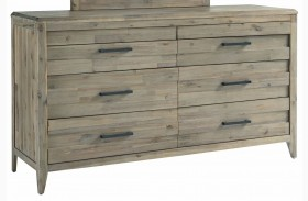 Harbourside Weathered Wire Brushed 8 Drawer Dresser