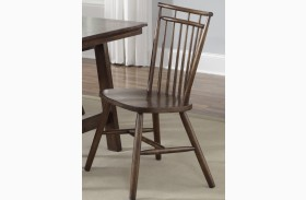 Creations II Spindle Back Side Chair Set of 2