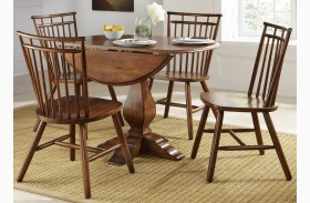 Creations II Drop Leaf Pedestal Extendable Table
