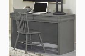 French Market Zinc 2 Drawer Laptop/Tablet Desk